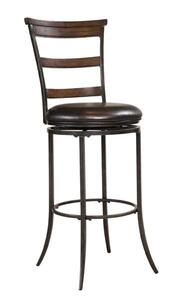 Cameron Swivel Counter Stool with Ladder Back (Chestnut Brown Finish) - [4671-828]