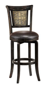 Camille Swivel Barstool with Completely KD (Black Finish) - [4861-830]