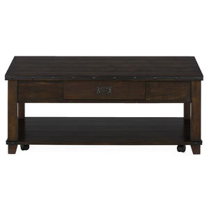 Cassidy Brown Traditional Plank Top Cocktail Table - [561-1]