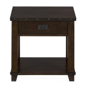 Cassidy Brown Traditional Plank Top End Table - [561-3]
