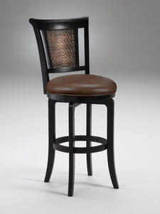 Cecily Swivel Counter Stool (Black Finish) - [4887-826]