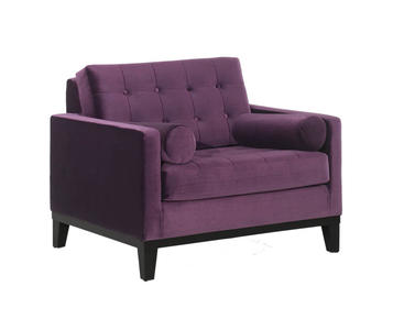 Centennial Chair (Purple Velvet Fabric) - [LC7251PU]