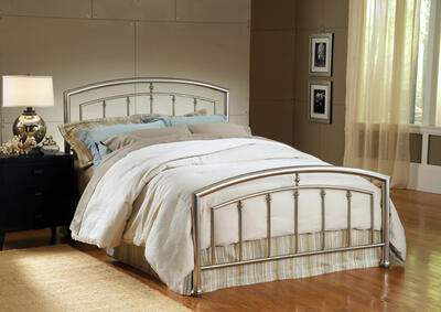 Claudia Bed (Matte Nickel Finish)