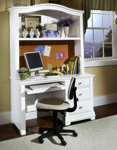 Cottage Collection Computer Desk (Snow White Finish)