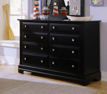 Cottage Collection Double Dresser (Black Finish)