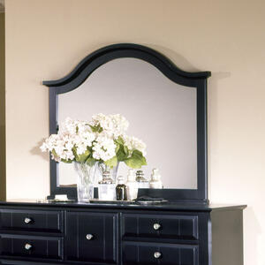 Cottage Collection Landscape Mirror (Black Finish)
