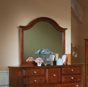 Cottage Collection Landscape Mirror (Cherry Finish)