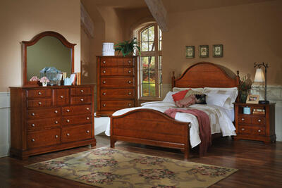 Cottage Collection Panel Bedroom Set (Cherry Finish)