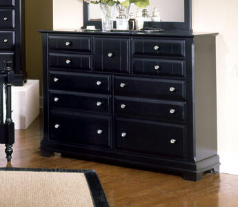 Cottage Collection Triple Dresser (Black Finish)