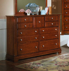 Cottage Collection Triple Dresser (Cherry Finish)