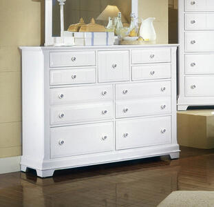 Cottage Collection Triple Dresser (Snow White Finish)