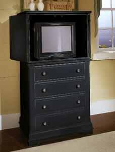 Cottage Collection Vanity Chest (Black Finish)