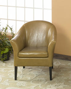 Cleveland Club Chair (Camel Leather) - [LCMC001CLCA]