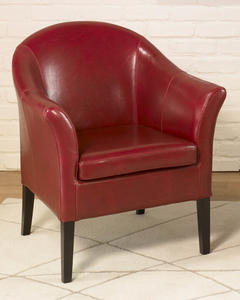 Cleveland Club Chair (Red Leather) - [LCMC0011RE]