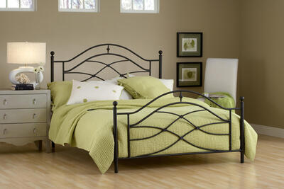 Cole Bed (Black Twinkle Finish)