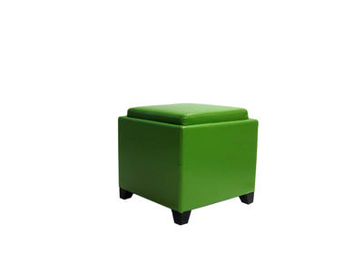 Contemporary Storage Ottoman with Tray (Green) - [LC530OTLEGR]