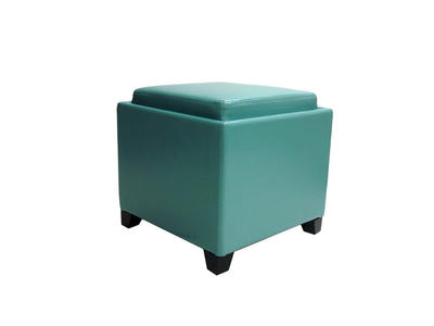 Contemporary Storage Ottoman with Tray (Sky Blue) - [LC530OTLESB]