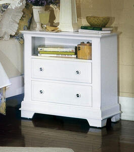 Cottage Collection Nightstand (Snow White Finish)