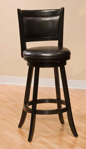Dennery Swivel Counter Stool (Black Finish) - [4472-827]