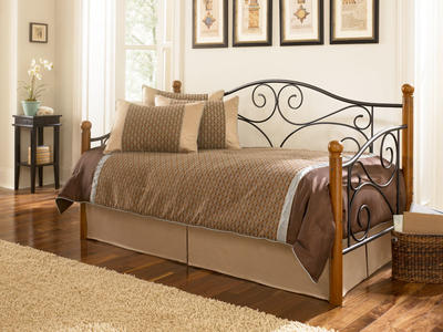 Doral Daybed (Matte Black & Walnut Finish) - [B50333]