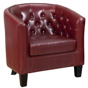 Gianni Upholstered Accent Club Chair with Tufted Back - Red - [GIANNI-CH-RED]