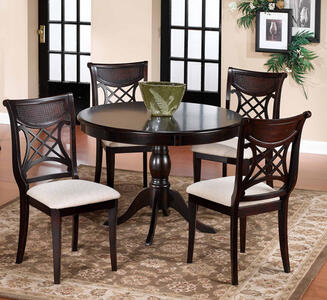 Glenmary Pedestal Table (Dark Cherry Finish)