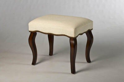Hamilton Backless Vanity Stool with Nailhead Trim (Burnished Oak) - [50962]