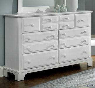 Hamilton Franklin Seven Drawer Triple Dresser (Snow White Finish) - [BB6-002]