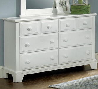 Hamilton Franklin Six Drawer Dresser (Snow White Finish) - [BB6-001]