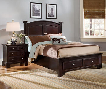 Hamilton Franklin Storage Panel Bed (Merlot Finish)