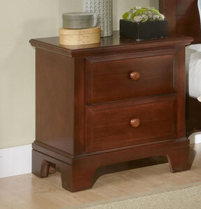 Hamilton Franklin Two Drawer Night Stand (Cherry Finish) - [BB5-226]