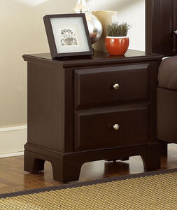Hamilton Franklin Two Drawer Night Stand (Merlot Finish) - [BB4-226]