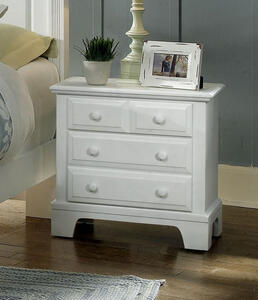 Hamilton Franklin Two Drawer Night Stand (Snow White Finish) - [BB6-226]