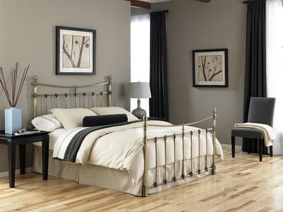 Leighton Bed (Antique Brass Finish) - [B3128]