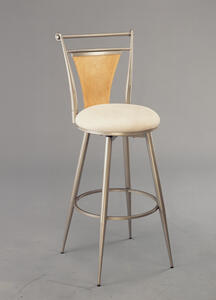 London Swivel Counter Stool (Champagne Finish) - [4183-826]