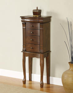 Louis Philippe Jewelry Armoire (Walnut) - [741-319]