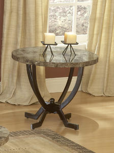 Monaco End Table (Matte Espresso Finish) - [4142-882]