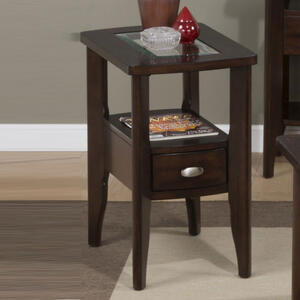 Montego Merlot Chairside Table - [827-7]