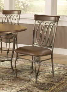 Montello Dining Chair - Set of 2 (Old Steel Finish) - [41543]