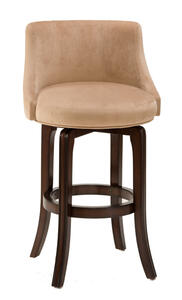 Napa Valley Swivel Barstool Textured Khaki Fabric (Dark Brown Cherry Finish) - [4294-832]