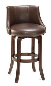 Napa Valley Swivel Counter Stool Brown Leather (Dark Brown Cherry Finish) - [4294-827]