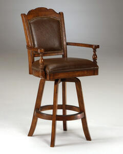 Nassau Bar Stool (Brown Finish) - [6060-830]