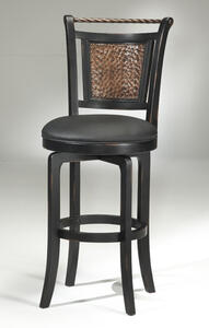 Norwood Copper Back Swivel Bar Stool (Black and Copper Finish) - [4935-830]