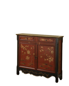 Oriental Two Door Console (Red) - [246-331]