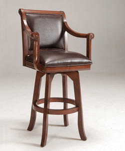 Palm Springs Swivel Bar Stool (Medium Brown Cherry Finish)
