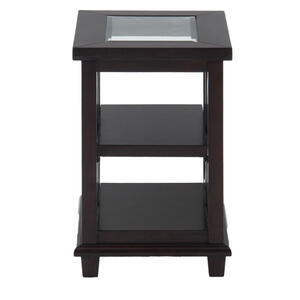 Panama Brown Contemporary Beveled Glass Chairside Table - [966-7]