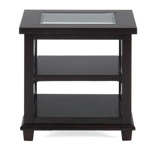 Panama Brown Contemporary Beveled Glass End Table - [966-3]