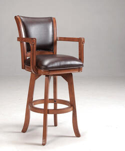 Park View Swivel Bar Stool (Medium Brown Oak Finish) - [4186-830]