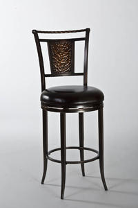 Parkside Swivel Counter Stool (Copper with Brown Vinyl) - [5247-826]