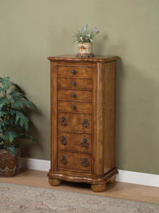 Porter Valley Jewelry Armoire (Distressed Oak) - [277-314]